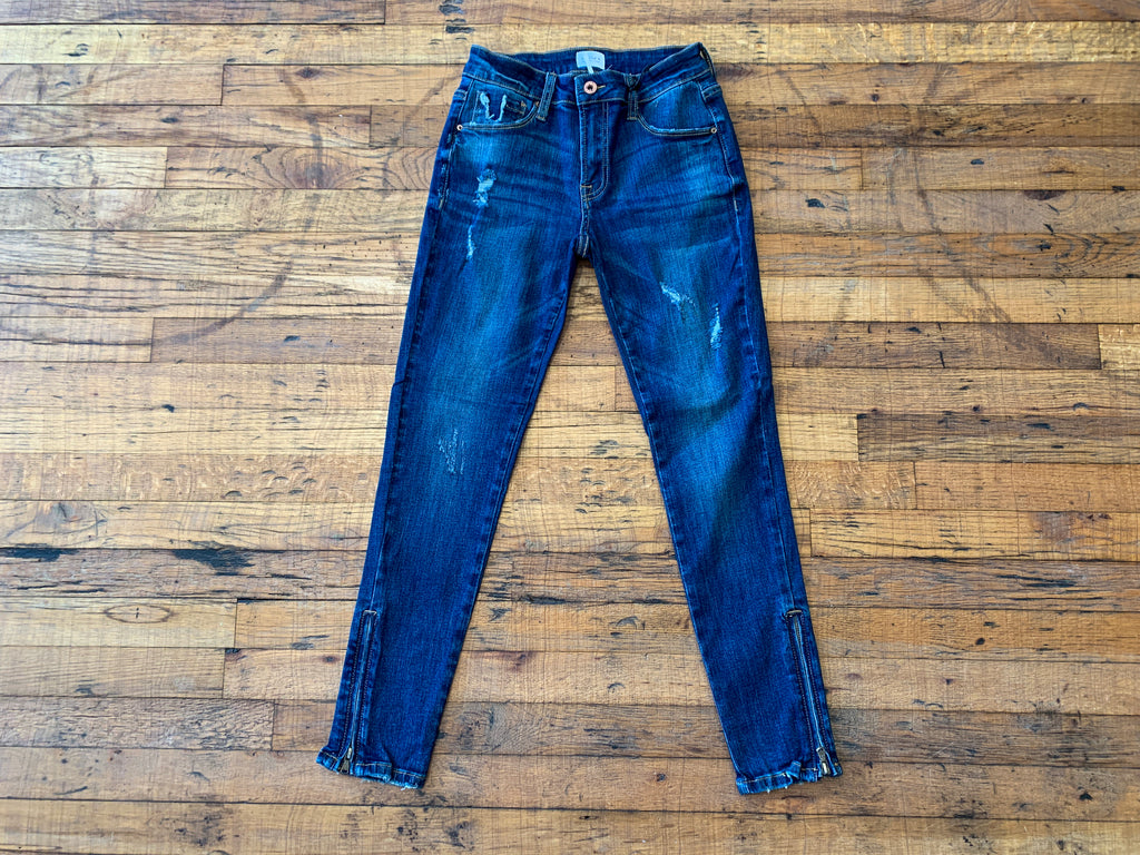 Soho Cropped Zipper Jeans
