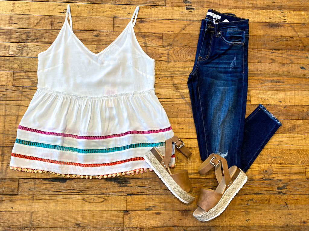 SALE! Take a Trip Tank in White