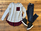 Kensington Top in Buffalo Plaid