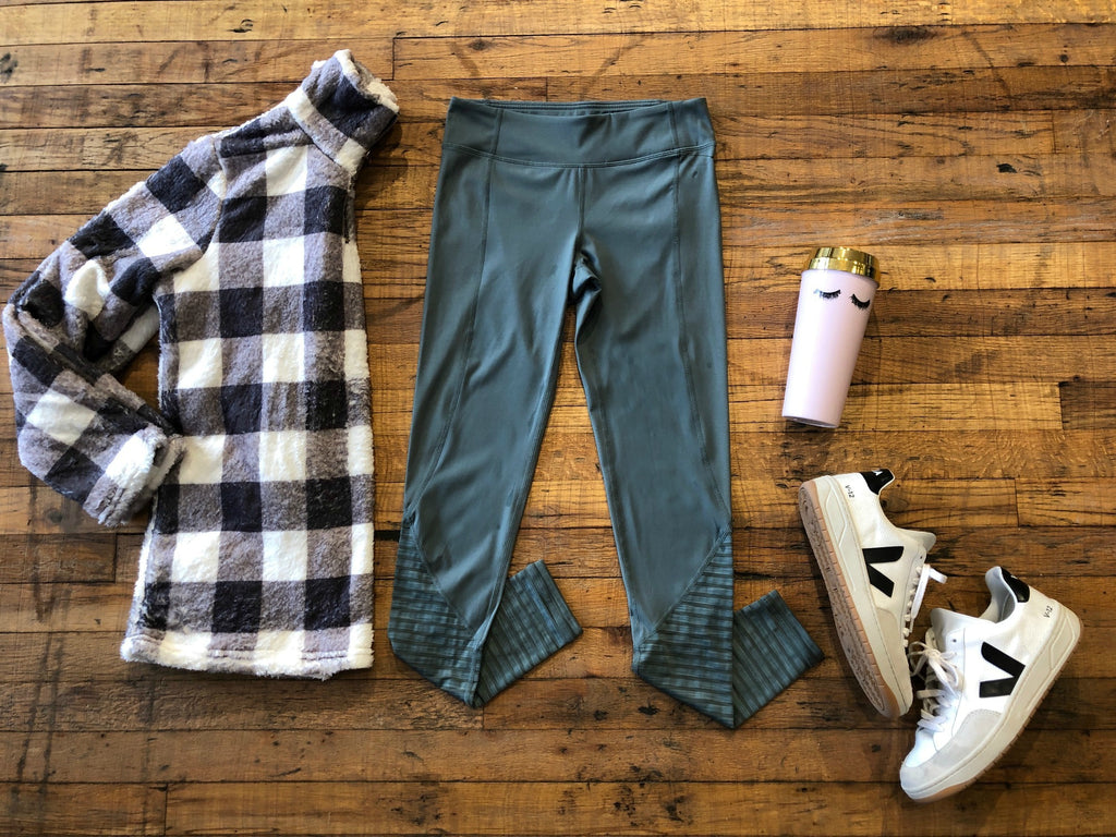 Burnout Leggings in Teal