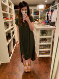 Sealy Maxi Dress in Black and Olive