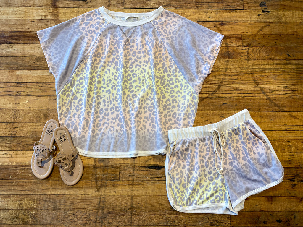 Sunset Ombre Leopard Top