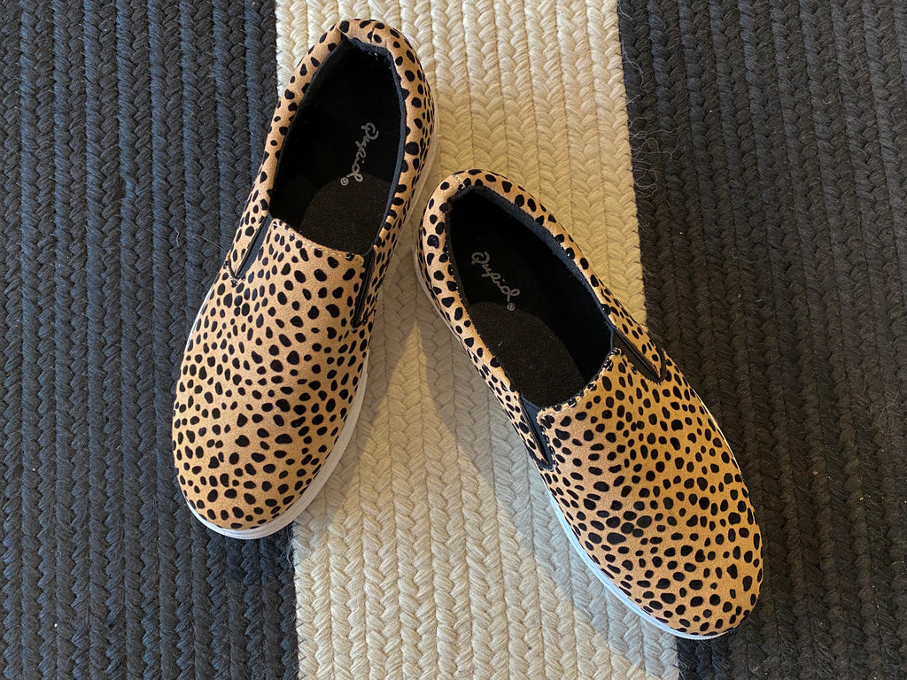 SALE! Cheetah Girl Slip-On Sneakers