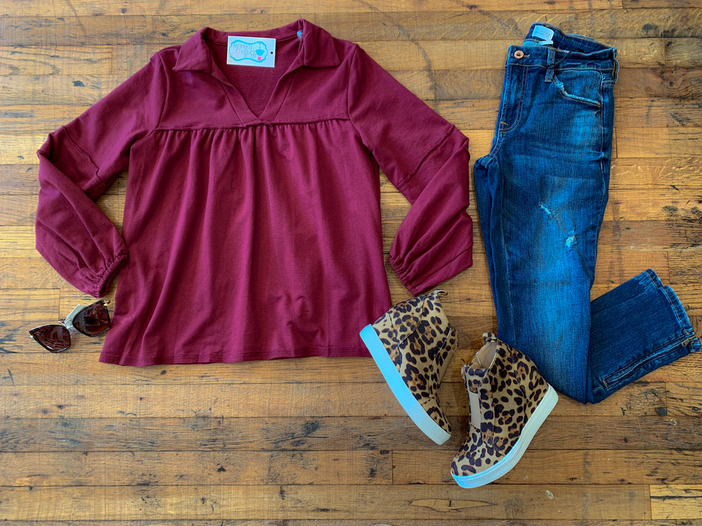 Smith Tunic in Burgundy