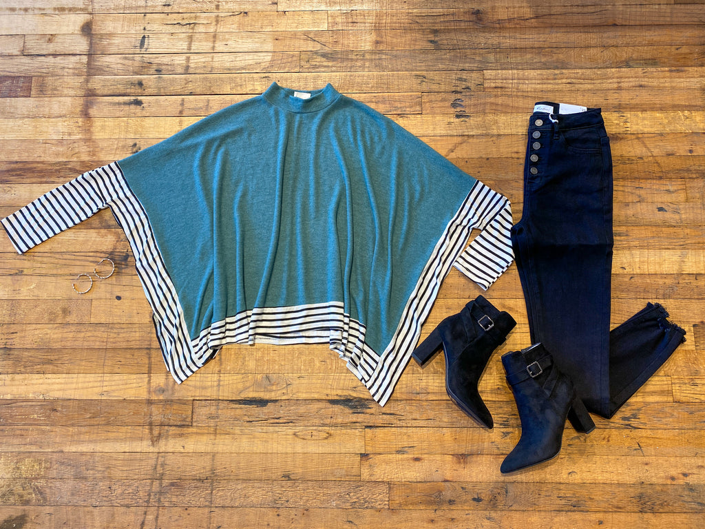 Playing for Keeps Poncho in Teal