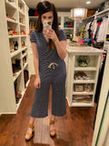 Casually Obsessed Jumpsuit in Navy