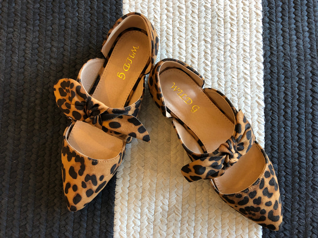 Leopard Bow Flats – Belles and Whistles