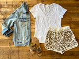 Dressed to Chill Shorts in Taupe
