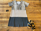 Style Instincts Dress in Snake/Leopard