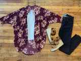 Floral Muse Kimono in Burgundy