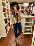 Andie Striped Top in Mocha