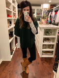 Best Dressed List Cowl Neck Sweater in Hunter Green