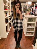 SALE! Plaid Promises Tunic in Black/White