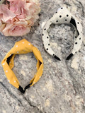 Polka Dot Headbands in Mustard and White