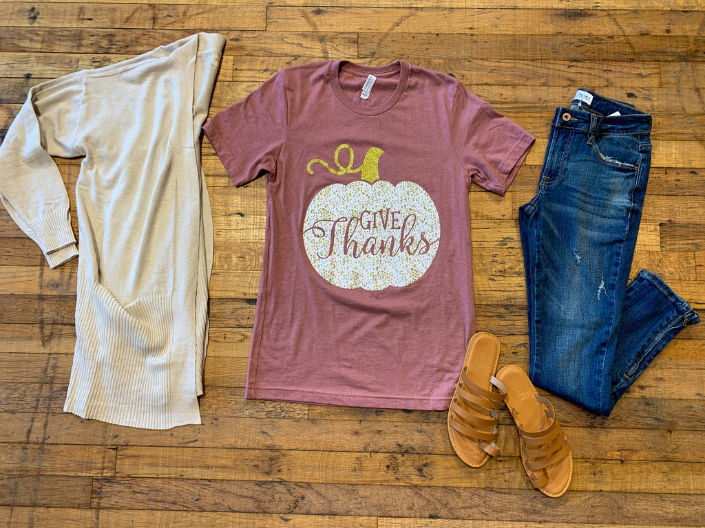 Give Thanks Pumpkin Tee