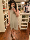 30A and Sunshine Dress in Gray/White