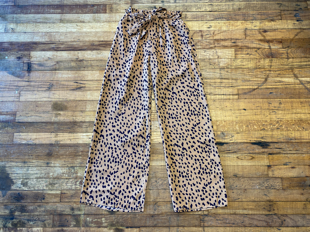 Close the Deal Tie Waist Pants in Toffee