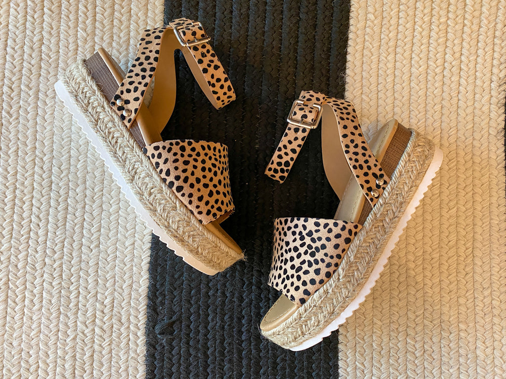 Malta Wedges in Cheetah