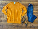 Feel the Chill Sweater in Gold Mustard