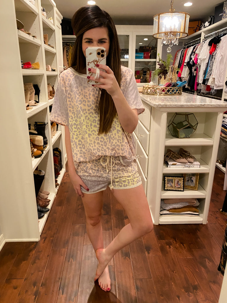 Sunset Ombre Leopard Shorts