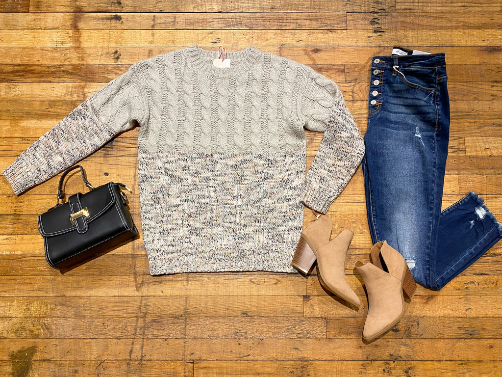 Ezra Cable Knit Sweater