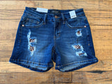 SALE! Judy Blue Leopard Patch Shorts