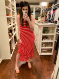 *BELLES & DOORBUSTER* Sunny Weather Maxi Dress in Red