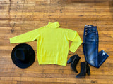 Warm Thoughts Sweater in Neon Yellow
