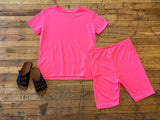Ready, Set, Chic Bike Shorts in Neon Pink