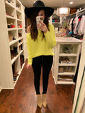 SALE! Warm Thoughts Sweater in Neon Yellow