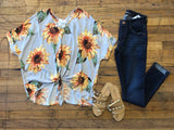 Get Some Sunflower Tie Front Top