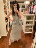 *BELLES & DOORBUSTER* Sunny Weather Maxi Dress in Heather Gray