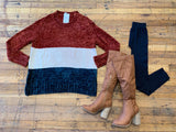 Charley Sweater in Rust