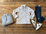 *BELLES & STEALS* Kimble Sherpa in Gray and Oatmeal