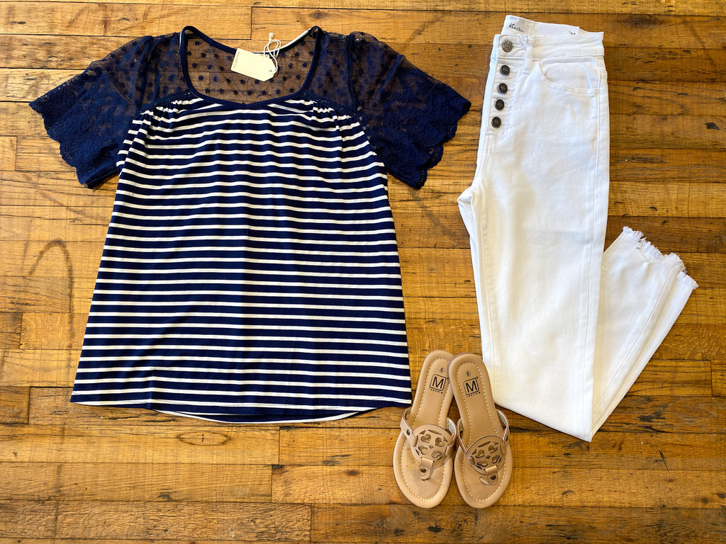 East Coast Afternoon Top in Navy