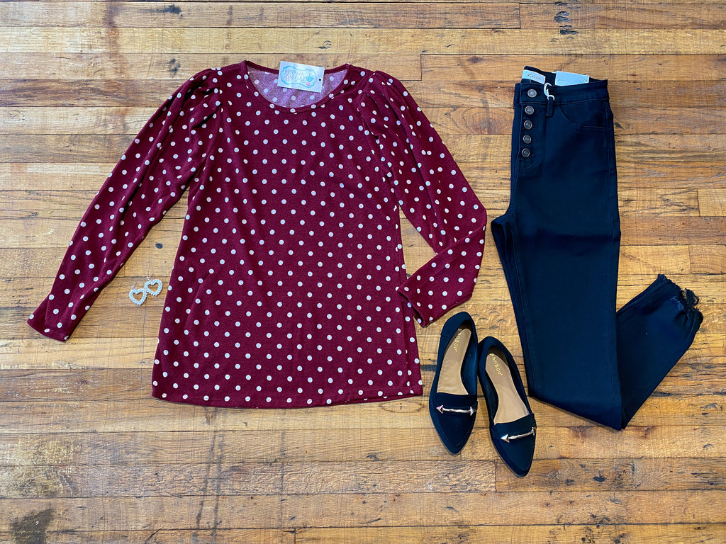 Barlow Polka Dot Top