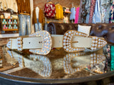 Get Out of Dodge Pearl Double Buckle Belt