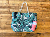 Palm Tree Tote in White