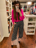Let's Connect Polka Dot Pants