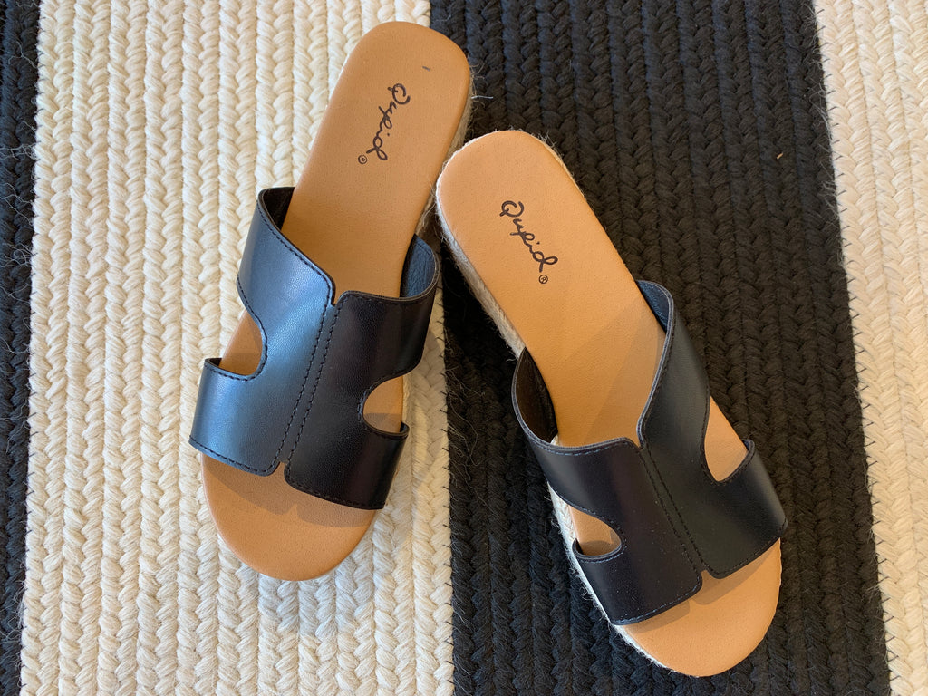 SALE! Beach Bungalow Wedges in Black