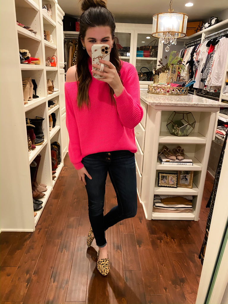 Warm Thoughts Sweater in Hot Pink