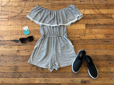 Head in the Clouds Striped Romper