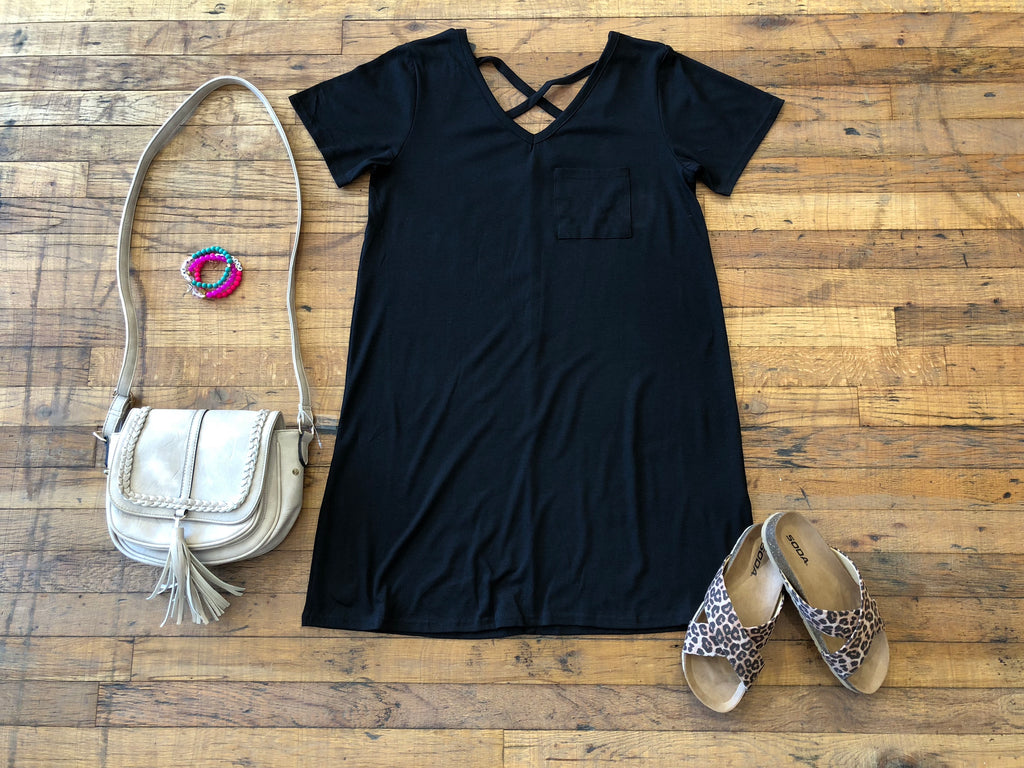 *BELLES & STEALS* Crawford Dress in Black