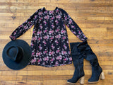 Barbie Floral Black Dress