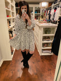 Love of My Life Polka Dot Dress in White/Black
