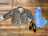 Halsey Leopard Denim Jacket