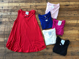 Charli Tank in Red, Pink, Royal, Fuchsia, White and Black