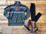 SALE! *BELLES & STEALS* Ski School Pullover in Olive