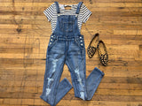 Judy Blue Shelton Distressed Overalls
