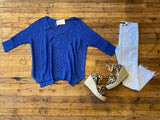 Welcome the Day Sweater in Royal